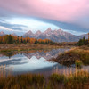Late morning light peaking through the Tetons