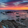 Sunset on Asilomar Beach, California
