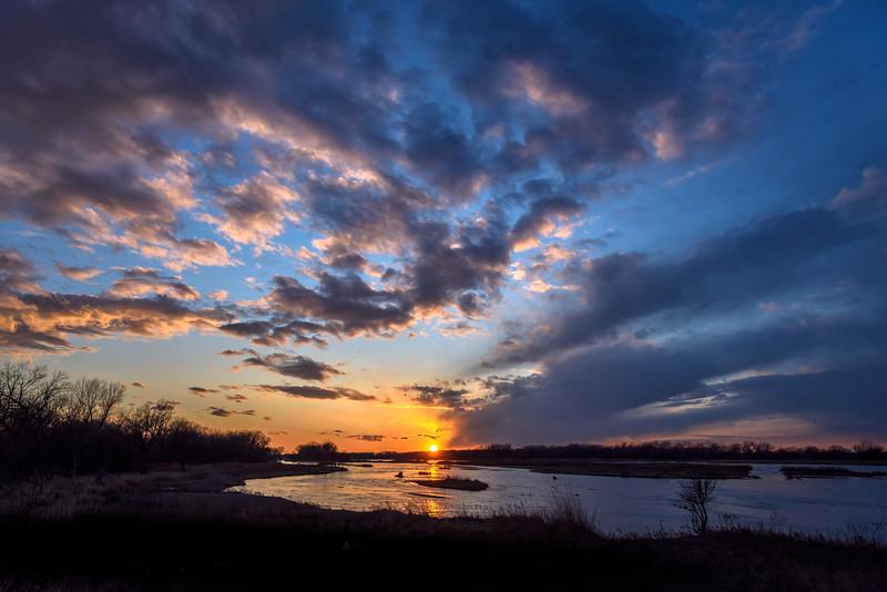 Sunset on the Platte River, Nebraska