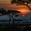 Sunrise in Masai Mara, Kenya, East Africa
