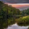 Sunrise over the Ottauquechee River near Woodstock, Vermont