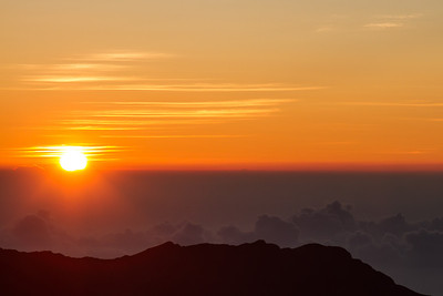 Sunrise at Haleakala Maui, Hawaii April 23, 2013
