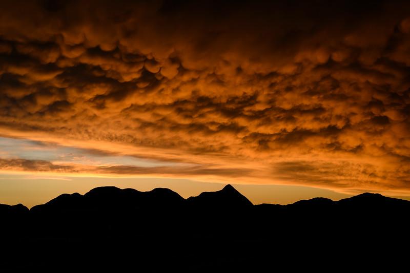 Sunset after rainstorm at Toadstool Geological Park in Northwestern Nebraska