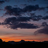 Sunset in the San Rafael Desert near Wild Horse Butte in Goblin Valley State Park near Hanksville, Utah