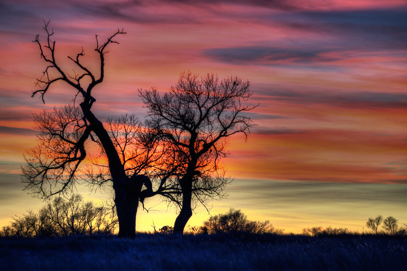 Sunset over the Niobrara National Wildlife Refuge near Valentine, Nebrasaka