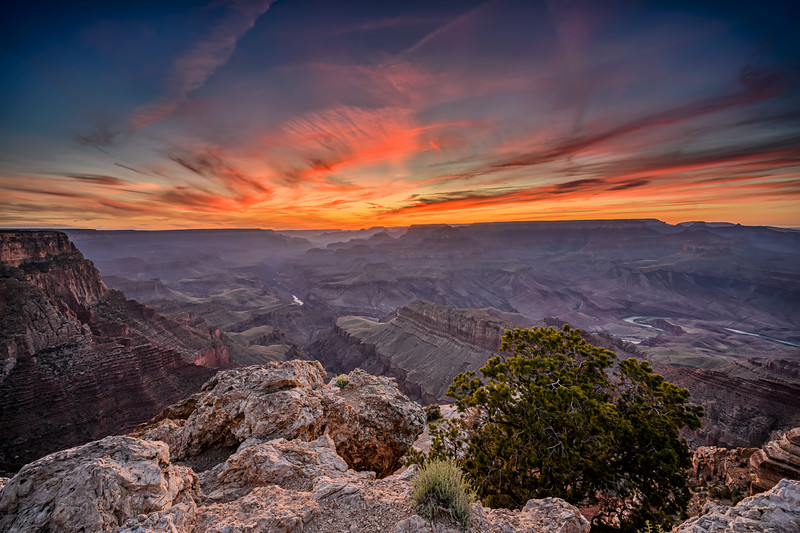 Sunset at Lipan Point on the South Rim of Grand Canyon National Park, Arizona