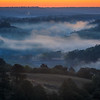 Pre-dawn fog and color over the Niobrara River in the Fort Niobrara National Wildlife Refuge near Valentine, Nebraska.  The Fort Niobrara National Wildlife Refuge borders the Niobrara National Scenic River and is managed by the U.S. Fish and Wildlife Service.