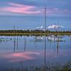 Sunset and reflection in marsh at Babcock Wildlife Management Area near Punta Gorda, Florida