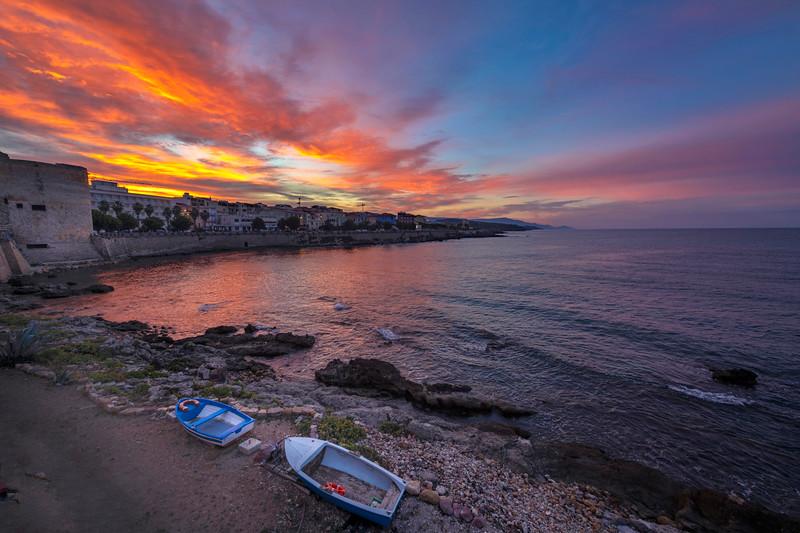 Sunrise in Alghero, Sardinia, Italy