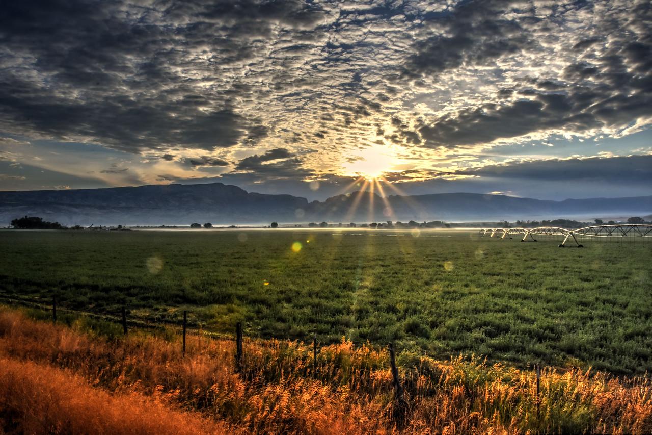 Sunrise over Dinosaur National Monument in Colorado