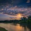 Sunset over the Platte River near Wood River, Nebraska