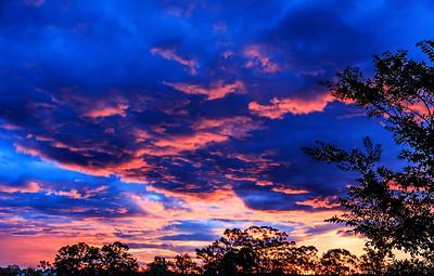 Sunset at Sumner Queensland