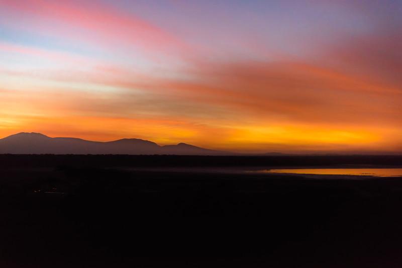 Sunrise over Lake Ndutu, Ndutu, Tanzania, East Africa