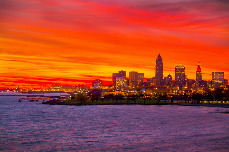 Glorious skies over Cleveland