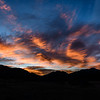 Sunrise over Rocky Mountain National Park near Estes Park, Colorado