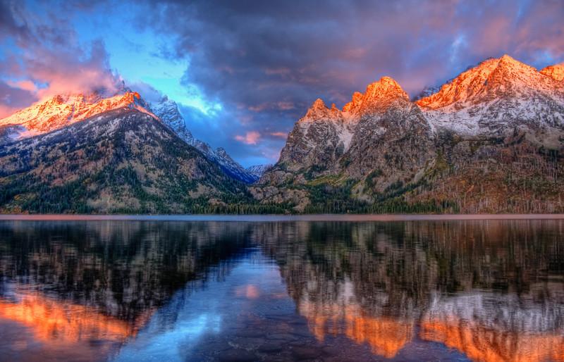 Brilliant Sunrise on Jenny Lake, Grand Teton National Park