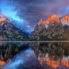 Brilliant Sunrise on Jenny Lake, Grand Teton National Park