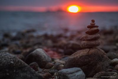 Sunset Cairn