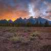 Sunset over Grand Teton National Park, Wyoming