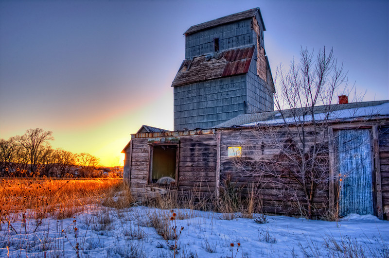 Winter Sunset in Crookston, Nebraska