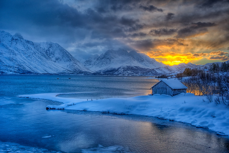 Arctic Sunrise near Ullsfjord, Norway