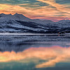 Arctic Sunset with Reflection near Tromso, Norway