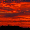 Fiery sky at sunset in Scottsdale, Arizona