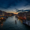 The Grand Canal at Sunset from the Rialto Bridge, Venice, Italy