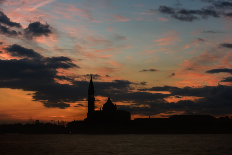 Sunrise over the Church of San Giorgio Maggiore, Venice, Italy