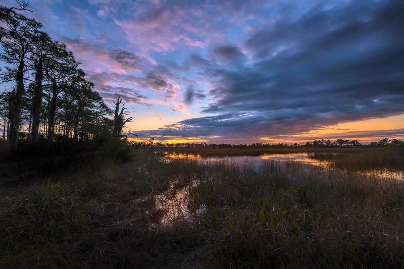 Sunrise over Babcock Wildlife Management Area near Punta Gorda, Florida
