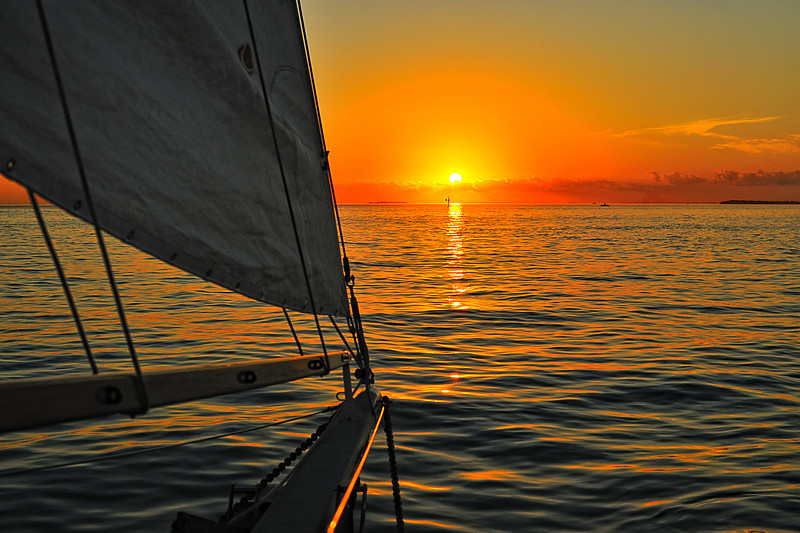 Sailing Into the Sunset in Key West, Florida