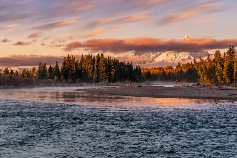 Snake River Bend at Sunrise