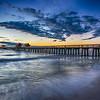 Sunset over Naples Pier, Florida