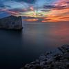 Sunset at Capo Caccia, Isola Foradadda near Alghero, Sardinia, Italy