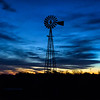 Dawn is breaking - Nebraska windmill at sunrise