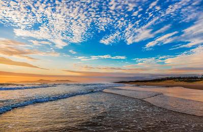 Noosa Sunrise on the beach