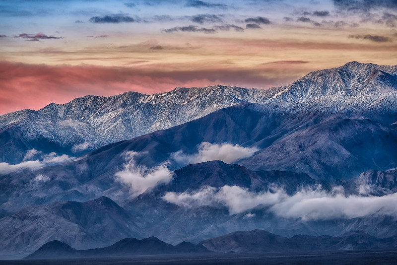 Daybreak in the Panamint Mountains, Badwater Basin, Death Valley National Park, California