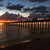 Sunset over the Venice Fishing Pier, Venice, Florida