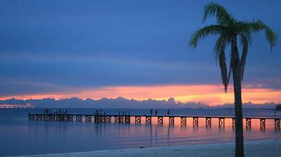 Tampa Bay's blue, pink & purple sunset!