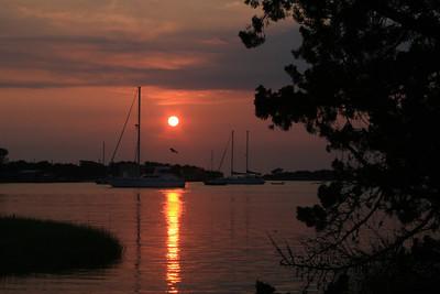 Sunset on Ocracoke Island, NC