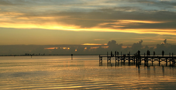 Ripples & sunset on Tampa Bay