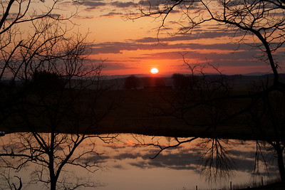 Sunrise at North Mountain Outfitters near Buffalo Gap, VA