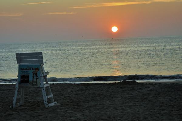 Sunrise awakens Rehoboth Beach, DE