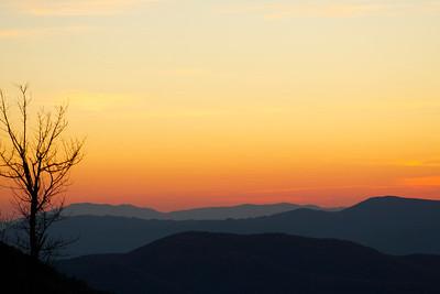 Fall Sunset in Shenandoah National Park