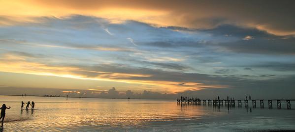 Tampa Bay's golden sunset!