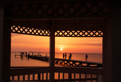 Sunset from gazebo at Tampa Bay