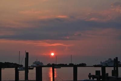 Sunset at Silver Lake, Ocracoke Island, NC
