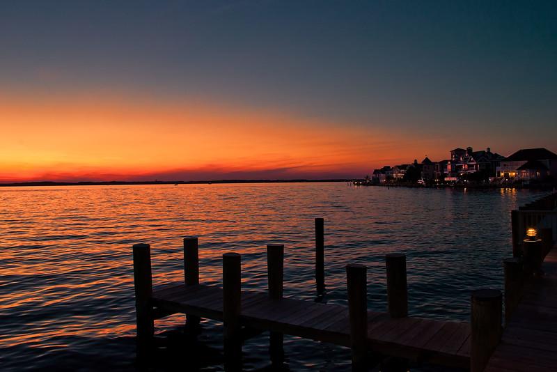 Sunset on Assawoman Bay