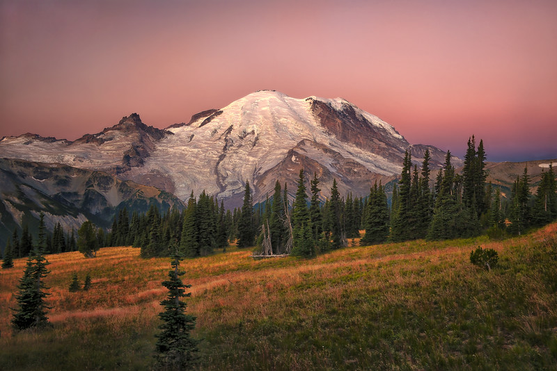 Sunrise on Mt. Rainier