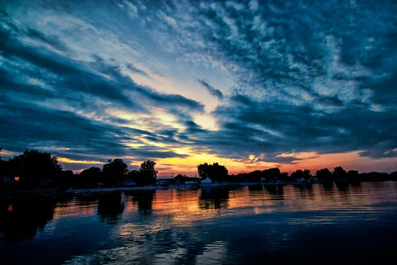 Lake Erie sunset from Luna Pier, MI